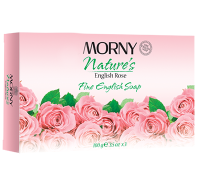 Morny English Rose Fine Soap 100g x3